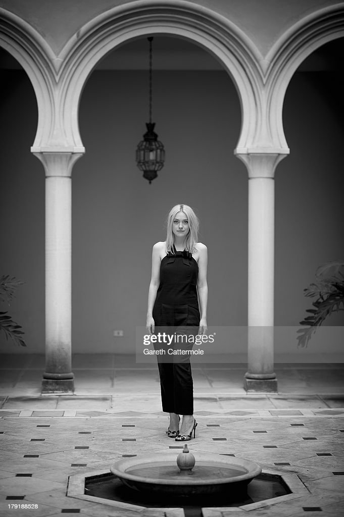 Actress Dakota Fanning during a portrait session at the 70th Venice International Film Festival on September 1, 2013 in Venice, Italy.