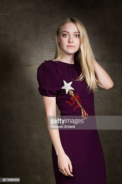 Actress Dakota Fanning is photographed for Self Assignment on September 3 2016 in Venice Italy