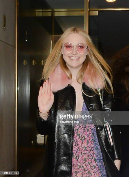 Actress Dakota Fanning is seen coming out of the Today Show on March 26 2018 in New York City