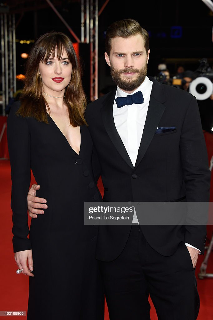 Actress Dakota Johnson and actor Jamie Dornan attend the 'Fifty Shades of Grey' premiere during the 65th Berlinale International Film Festival at Zoo Palast on February 11, 2015 in Berlin, Germany.