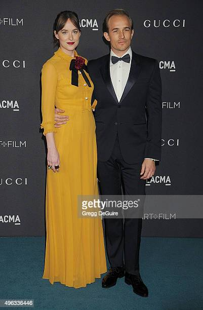 Actress Dakota Johnson and brother Jesse Johnson arrive at the LACMA 2015 ArtFilm Gala Honoring James Turrell And Alejandro G Inarritu Presented By...