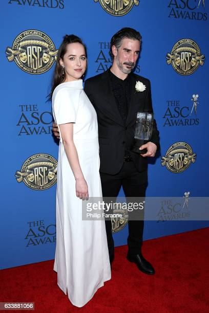 Actress Dakota Johnson and cinematographer Gorka Gomez Andreu attend the 31st Annual American Society of Cinematographers Awards at The Ray Dolby...