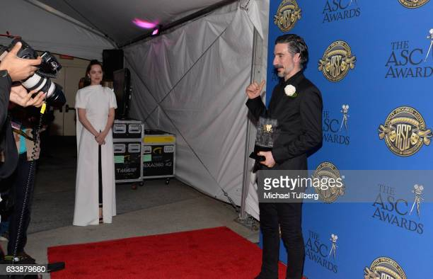 Actress Dakota Johnson and cinematorgrapher Gorka Gomez Andreu attend the 31st Annual American Society Of Cinematographers Awards at The Ray Dolby...