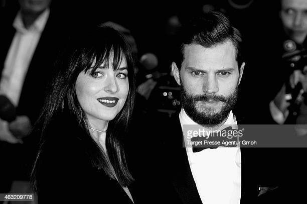 Actress Dakota Johnson and Jamie Dornan attend the 'Fifty Shades of Grey' premiere during the 65th Berlinale International Film Festival at Zoo...