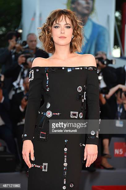Actress Dakota Johnson attends a premiere for 'A Bigger Splash' during the 72nd Venice Film Festival at Sala Grande on September 6 2015 in Venice...