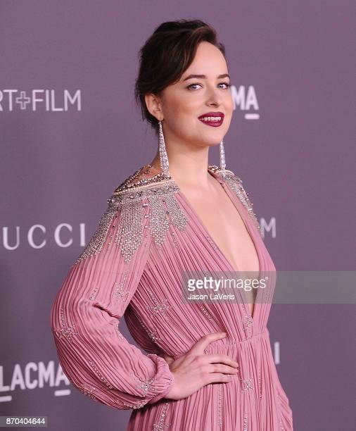Actress Dakota Johnson attends the 2017 LACMA Art Film gala at LACMA on November 4 2017 in Los Angeles California