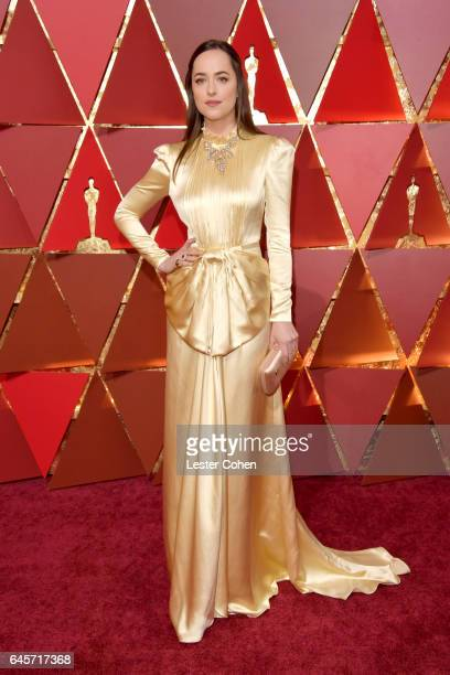 Actress Dakota Johnson attends the 89th Annual Academy Awards at Hollywood Highland Center on February 26 2017 in Hollywood California