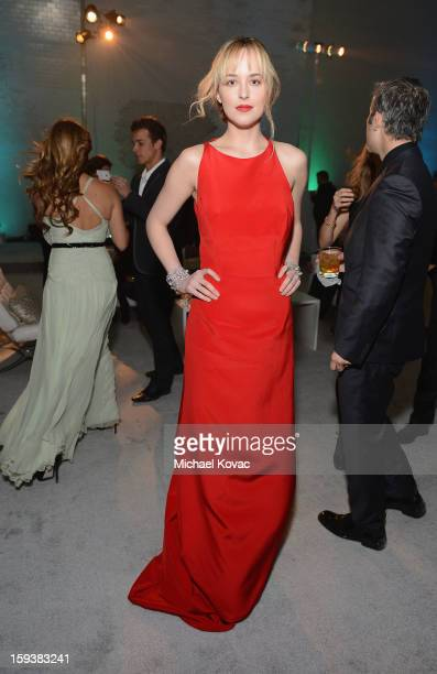 Actress Dakota Johnson attends The Art of Elysium's 6th Annual HEAVEN Gala presented by Audi at 2nd Street Tunnel on January 12, 2013 in Los Angeles,...