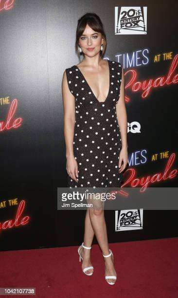 Actress Dakota Johnson attends the Bad Times At The El Royale New York screening at Metrograph on September 27 2018 in New York City