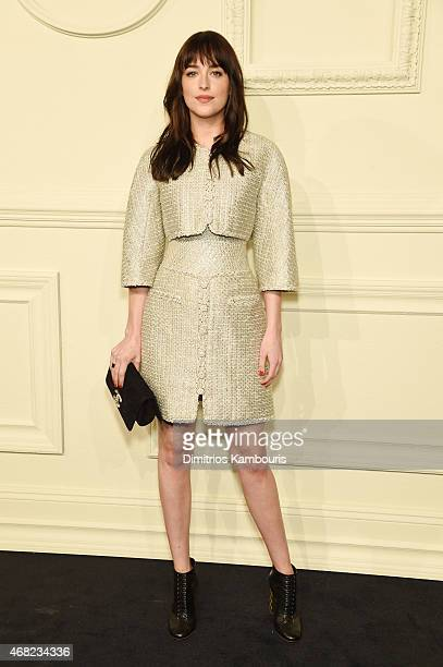 d223416e837 Actress Dakota Johnson attends the CHANEL ParisSalzburg 2014 15 Metiers d  Art Collection at. CHANEL Paris-Salzburg ...