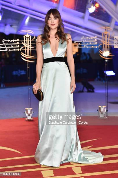 Actress Dakota Johnson attends the Closing Ceremony of the 17th Marrakech International Film Festival on December 8 2018 in Marrakech Morocco