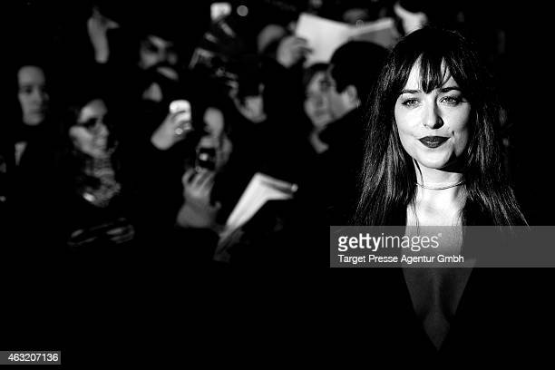Actress Dakota Johnson attends the 'Fifty Shades of Grey' premiere during the 65th Berlinale International Film Festival at Zoo Palast on February 11...