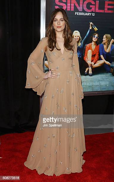 Actress Dakota Johnson attends the 'How To Be Single' New York premiere at NYU Skirball Center on February 3 2016 in New York City