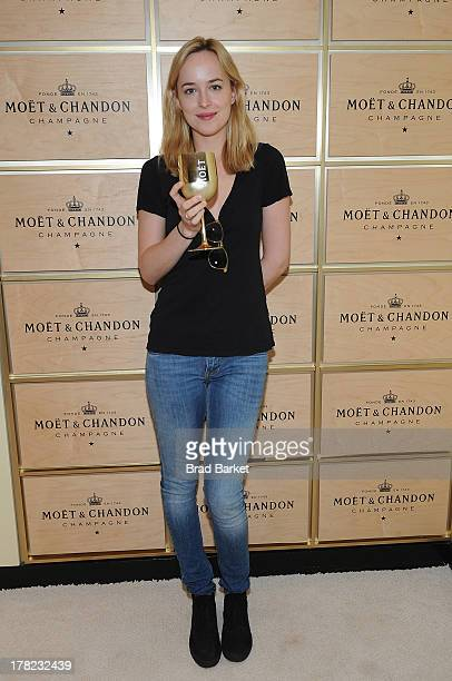 Actress Dakota Johnson attends The Moet Chandon Suite at the USTA Billie Jean King National Tennis Center on August 27 2013 in New York City