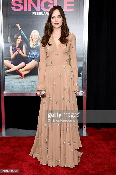 Actress Dakota Johnson attends the New York premiere of 'How To Be Single' at the NYU Skirball Center on February 3 2016 in New York City