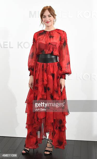 Actress Dakota Johnson attends the opening event for the Michael Kors Ginza Flagship Store on November 20 2015 in Tokyo Japan