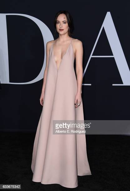 Actress Dakota Johnson attends the premiere of Universal Pictures' 'Fifty Shades Darker' at The Theatre at Ace Hotel on February 2 2017 in Los...