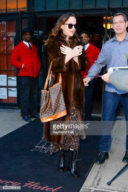 Actress Dakota Johnson is seen in Soho on February 1 2017 in New York City
