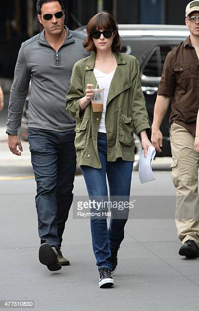 How to be single images et photos getty images actress dakota johnson is seen on the set of how to be singleon ccuart Choice Image