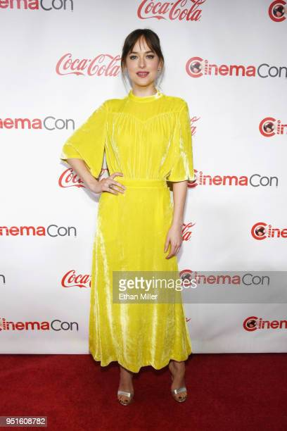 Actress Dakota Johnson recipient of the Female Star of the Year award attends the CinemaCon Big Screen Achievement Awards brought to you by the...