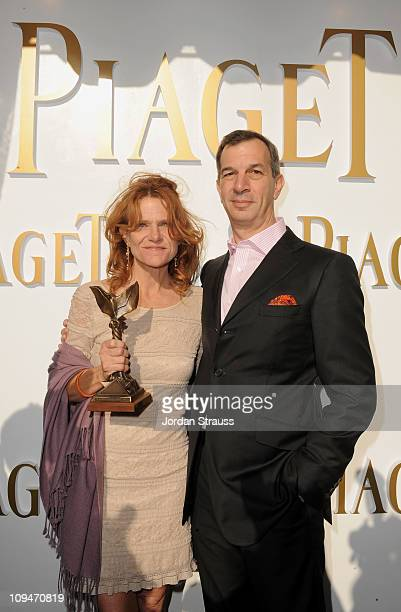 Actress Dale Dickey winner of the Best Supporting Female award for 'Winter's Bone' and wearing Piaget and Philippe LeopoldMetzger Piaget CEO in the...