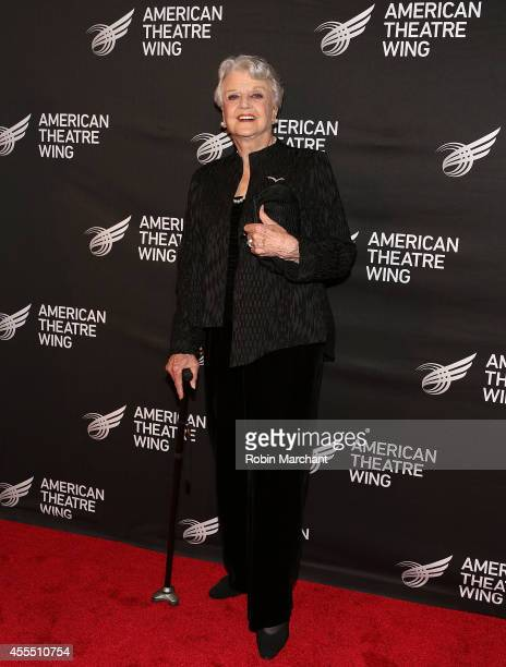 Actress Dame Angela Landsbury attends The 2014 American Theatre Wing Gala Honoring Dame Angela Landsbury on September 15 2014 in New York United...