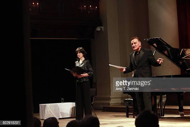 Actress Dame Harriet Walter as Clara Schumann and actor Henry Goodman as Robert Schumann perform in 'Composers In Love Beloved Clara' part of...