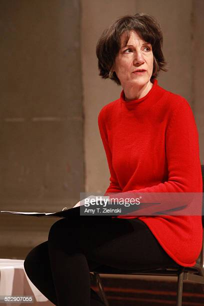 Actress Dame Harriet Walter rehearses before a performance in 'Composers In Love Beloved Clara' part of Sheaffer Sunday Matinees at At St John's...