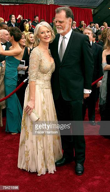 Actress Dame Helen Mirren and husband Taylor Hackford attend the 79th Annual Academy Awards held at the Kodak Theatre on February 25 2007 in...