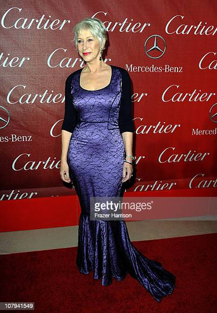 Actress Dame Helen Mirren arrives at the 2011 Palm Springs International Film Festival Awards Gala at the Palm Springs Convention Centre on January 8...