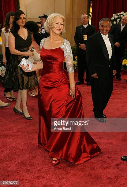 Actress Dame Helen Mirren arrives at the 80th Annual Academy Awards held at the Kodak Theatre on February 24 2008 in Hollywood California