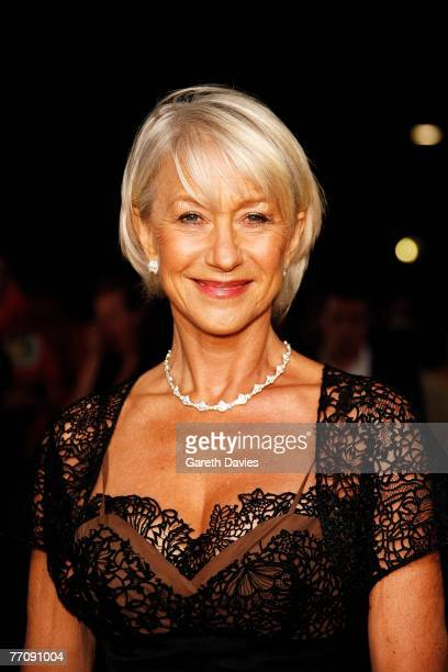 Actress Dame Helen Mirren arrives at the National Movie Awards at the Royal Festival Hall on September 28 2007 in London England