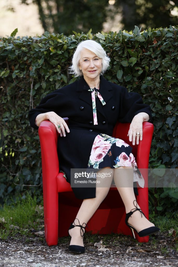 Actress Dame Helen Mirren attends 'La Vedova Winchester' photocall at La Casa Del Cinema on February 13, 2018 in Rome, Italy.