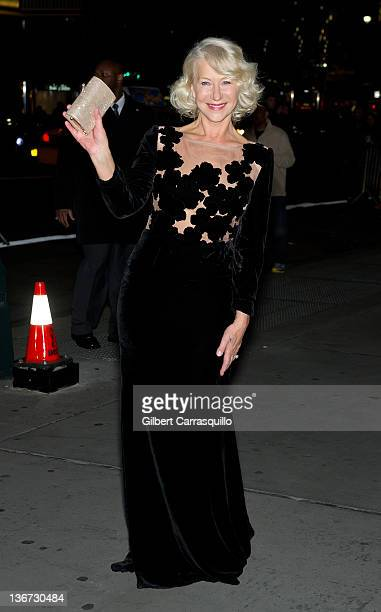 Actress Dame Helen Mirren attends the 2011 National Board of Review Awards gala at Cipriani 42nd Street on January 10 2012 in New York City