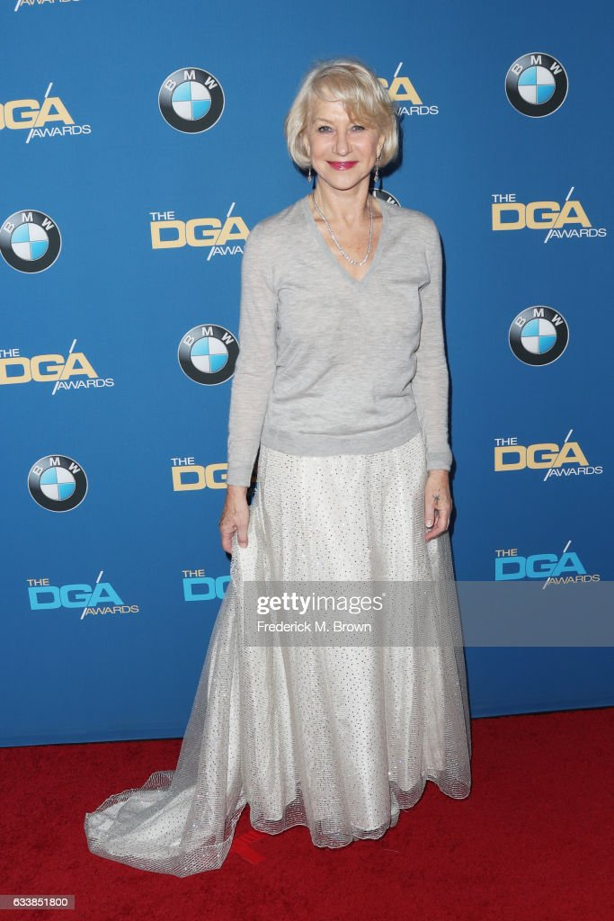 Actress Dame Helen Mirren attends the 69th Annual Directors Guild of America Awards at The Beverly Hilton Hotel on February 4, 2017 in Beverly Hills, California.