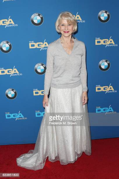 Actress Dame Helen Mirren attends the 69th Annual Directors Guild of America Awards at The Beverly Hilton Hotel on February 4 2017 in Beverly Hills...