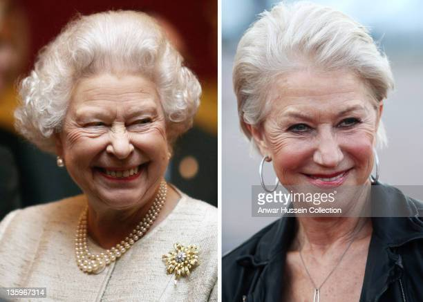 In this composite image a comparison has been made between Queen Elizabeth II and Actress Dame Helen Mirren Oscar hype begins this week with the...