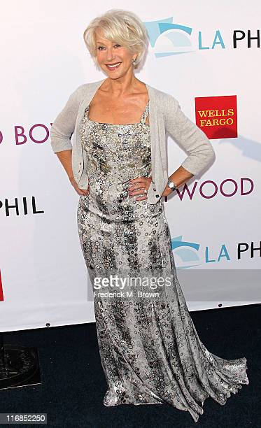 Actress Dame Helen Mirren attends the Hollywood Bowl 2011 Hall of Fame Ceremony on June 17 2011 in Hollywood California