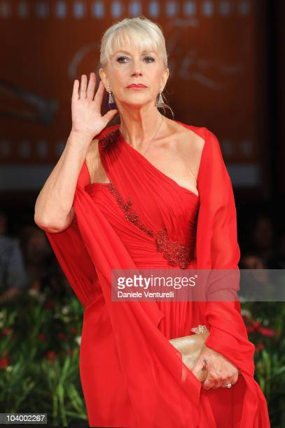 Actress Dame Helen Mirren attends The Tempest World Premiere at the Palazzo del Cinema during the 67th Venice International Film Festivalon September...