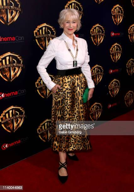Actress Dame Helen Mirren attends Warner Bros Pictures The Big Picture exclusive presentation during CinemaCon at The Colosseum at Caesars Palace on...