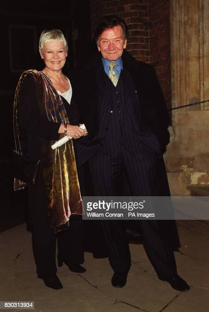 Actress Dame Judi Dench and her husband Michael Williams arrive at London's historic Middle Temple Hall where she presented actor and director...