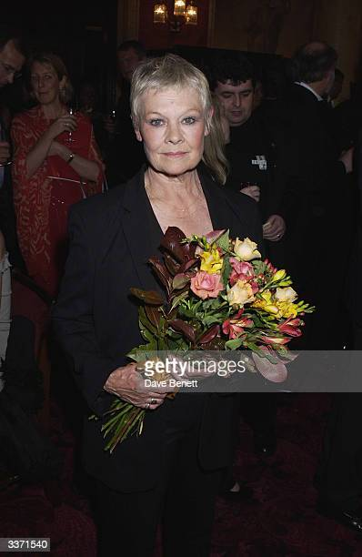 Actress Dame Judi Dench at the UK Neurofibromatosis Association 20th Anniversary Gala Concert held at the Theatre Royal on 12th May 2002 in London