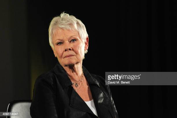 Actress Dame Judi Dench attends a private screening and QA of Philomena at Odeon West End on December 13 2013 in London England