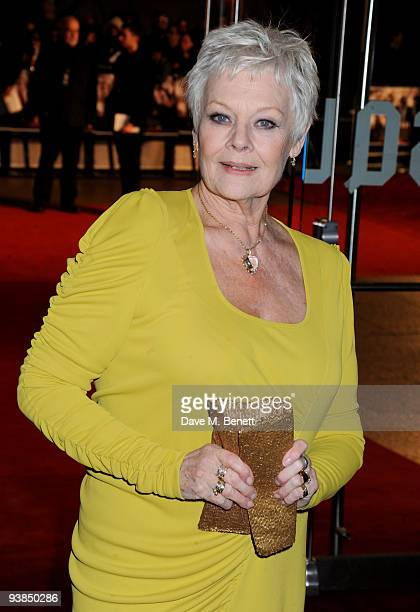 Actress Dame Judi Dench attends the 'Nine' world film premiere at the Odeon Leicester Square on December 3 2009 in London England