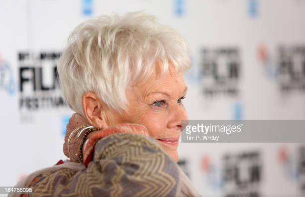 Actress Dame Judi Dench attends the 'Philomena' photocall during the 57th BFI London Film Festival at Claridges Hotel on October 16 2013 in London...