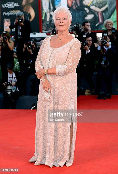 Actress Dame Judi Dench attends the 'Philomena' Premiere during The 70th Venice International Film Festival at the Palazzo del Casino on August 31...