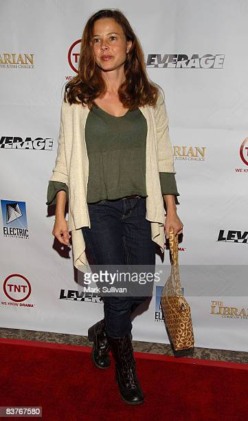 Actress Dana Barron attends the Leverage and The Librarian Wrap Party at the Cabana Club on November 19 2008 in Hollywood California