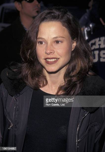 Actress Dana Barron attends the premiere of 'Clubland' on April 12 1999 at Cecci Gori Theater in Beverly Hills California
