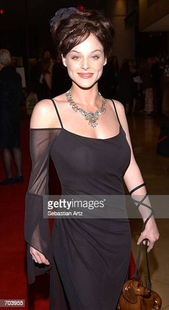 Actress Dana Daurey attends the 16th Annual Genesis Awards at The Beverly Hilton Hotel March 16 2002 in Beverly Hills CA