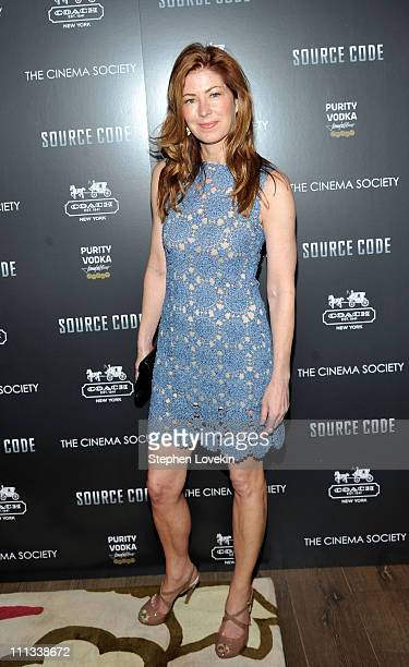 Actress Dana Delaney attends the Cinema Society Coach screening of 'Source Code' at the Crosby Street Hotel on March 31 2011 in New York City